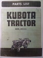 Kubota B6000 Diesel 4x4 Amp 2wd Farm Tractor Amp Rotary Tiller Parts Manual