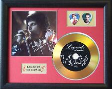 Freddie Mercury Preprinted Autograph, Gold Disc & Plectrum Presentation