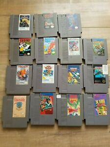 Nintendo Entertainment System NES Game Lot 15 Games Total!
