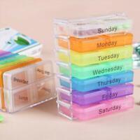7 Day Pill Box Medicine Tablet Storage Holder Vitamin Dispenser Organiser