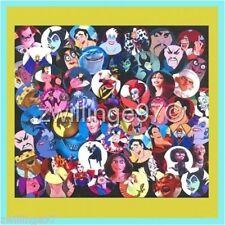 100 Precut assorted Disney MOVIE VILLAINS 1 inch BOTTLE CAP IMAGES Variety Mix