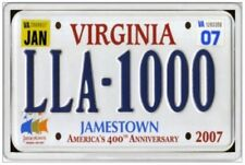 VIRGINIA - JUMBO FRIDGE MAGNET - OLD 2007 LICENCE PLATE UNITED STATES AMERICA