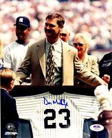 Don Mattingly autographed signed 8x10 photo MLB New York Yankees PSA COA Dodgers