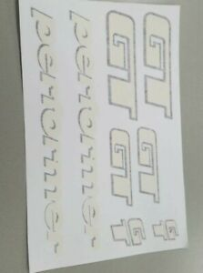 White GT bmx decals stickers for post clamp,Gyro