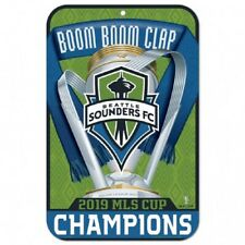 2019 MLS Champions Seattle Sounders 11x17 Plastic Sign