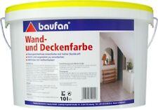 Baufan Wand- und Deckenfarbe 10 l weiß Innen-Wandfarbe wischfeste Innenfarbe