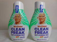 2 Mr. Clean (Clean Freak) Deep Cleaning Mist Refill Bottles 16 OZ - Gain Scent
