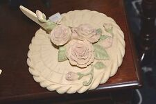 Outdoor Garden Heavy Ceramic Sg-238 Rose Sundial Painted Stone New FaBuLouS!