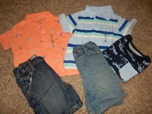 7L Set of 5 NWT 18-24M The Children's Place Polo Shirts & Denim Jeans Shorts