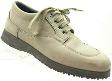 HOGAN by TOD'S Easy Donna Womens Taupe Beige Nubuck Leather Lace-up Shoes Sz 37