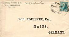 USA 1890 10 C blaugrün Webster als EF a. Pra.-Schiffspostbrief per S.S. Umbria