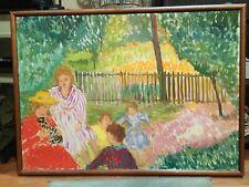 Quadro di L. Boutin, impressionista francese olio su tela, cm 100 x 70