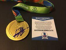 Usain Bolt Signed 2016 Rio Brazil Olympics Replica Gold Medal 🇯🇲 Star Beckett