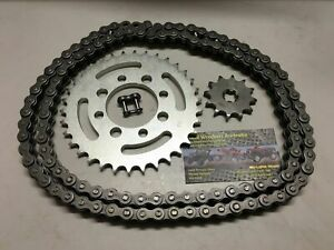 SUZUKI JR 80 & DS 80 CHAIN AND SPROCKET KIT 12 T FRONT 34 T REAR 428 CHAIN