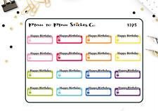 1395~~Birthday Reminder Planner Stickers.