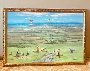 Peter Ellenshaw, Painting , Pooh, KITE FLYING DAY .