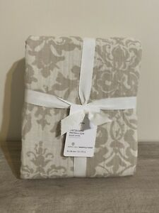 POTTERY BARN  Jacquard Medallion Duvet Cover, Full/Queen Neutral New NWT