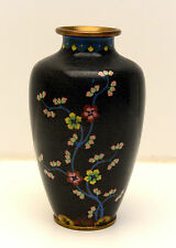 Extremely Beautiful Antique Chinese cloisonne vase, excellent  Cond. Brass Base!