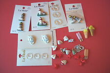 LOT OF SPECIAL BUTTONS SANTAS AND OTHERS DOLL HOUSE MINIATURES DECORATIONS