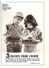 PATRON DE COUTURE Trois tricots pour l'hiver