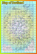 A2 SCOZIA laminato Mappa UK educativo poster tabellone insegnante bambini Atlas