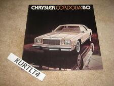 1980 Chrysler Cordoba sales brochure dealer catalog literature