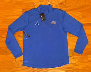 NEW Mens Nike Air Jordan Florida Gators 1/4 Zip Long Sleeve Jacket Pullover XL