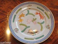 Herend Vintage Salad/Dessert Plate Vintage 1930's Poissons Pattern Blue Glazed