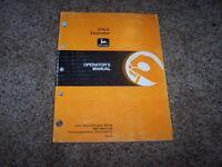 John Deere 270LC 270 LC Excavator Owner Operator Maintenance Manual OMT184913