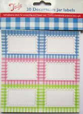 Tala 30x GINGHAM Preserving Labels for Jam Jar Preserves Chutney Pickle Stickers