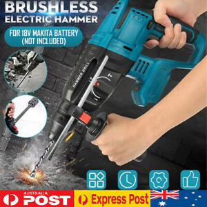 Brushless Cordless Rotary SDS Hammer Impact Drill Body For 18V Makita battery
