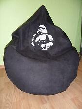 """Sitzsack L """" von Lux """"ca. 320 Liter  Star Wars Stormtrooper/Lederoptik schwarz"""