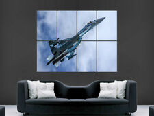 SU 35 FIGHTER JET POSTER AEROPLANE WAR ARMY  WALL ART PICTURE PRINT LARGE