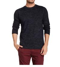 J Brand 1562 Men's Navy Melan Conrad Crew Neck Wool Blend Sweater Sz M
