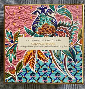 MOTHERS DAY! Fragonard BOXED Grenade Pivoine Dish and Perfumed Soap 150g NEW!