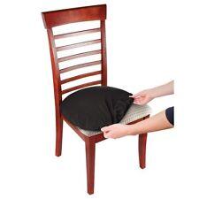 Black Stretch N Fit Chair Fabric Renewal Any Shape Custom Cover Set of 2 Black