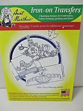 Aunt Martha's Iron On Transfers #3268 Pillowslip Motifs Southern Belle Etc New