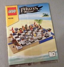 Lego PIRATES Manual Only NEW Sealed Plastic #40158 Chess Set  Bks. 1-2