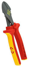 CK 200mm HIGH LEVERAGE Side Cutter Redline VDE Wire Diagonal Pliers, T37021-200