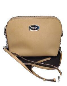 Michael Kors Emmy Medium Crossbody in Saffiano Leather Bag - Beige