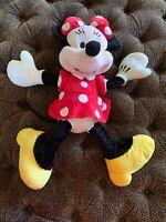 "Disney Parks Minnie Mouse 27"" Large Stuffed Plush Toy Excellent 🌟"