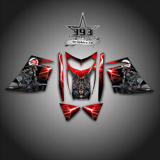 SKI-DOO REV MXZ SNOWMOBILE SLED WRAP GRAPHICS DECAL 03-07 GUARDIAN RED