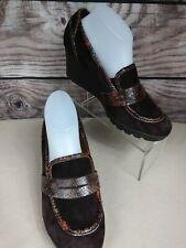 DONALD J. PLINER Women's MARLEY Wedge Slip On Shoes Brown Suede Size 10 M