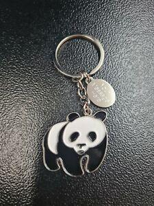 Personalised Panda Keyring - Free Engraved Tag - Birthday gift