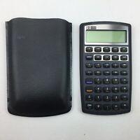 HP Hewlett Packard Invent 10BII Scientific Calculator Black With Case UNTESTED
