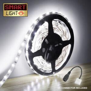 WHITE 5M-10M LED Light Strip Tape XMAS Cabinet Kitchen Lighting WATERPROOF 12V