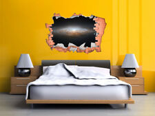 FULL COLOUR Space/Galaxy Smashed Wall, Wall Art,Transfer, 3D Sticker, Decal