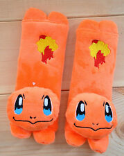 POKEMON CHARMANDER Car Seat Belt Cover / Baby Stroller Shoulder Cushion Pads Set