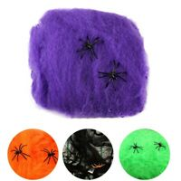Halloween Spider Web Props Home Party Bar Decoration Stretchy Cobweb Spider Z3N5