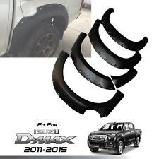 FENDER FLARES WHEEL MATTE MATT BLACK WITH NUTS FOR ISUZU D-MAX DMAX 2011-2015